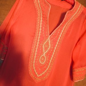Stunning Theme orange and gold coverup